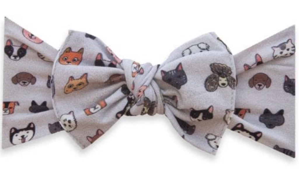 Baby Bling Printed Knot Headband- Pet Pals