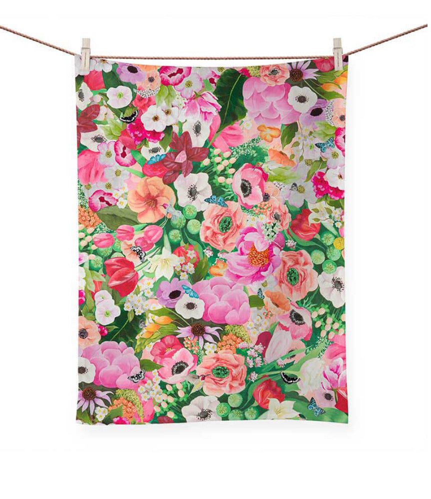 Greenbox Art Haute House Floral Tea Towel