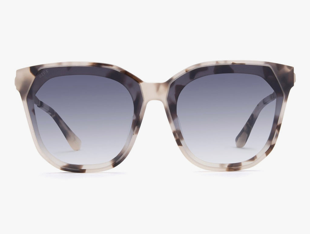 Diff Gia Cream Tortoise, Grey Sunglasses