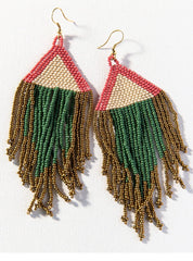 Ink + Alloy Terra Cotta Ivory Emerald Gold Fringe, 5