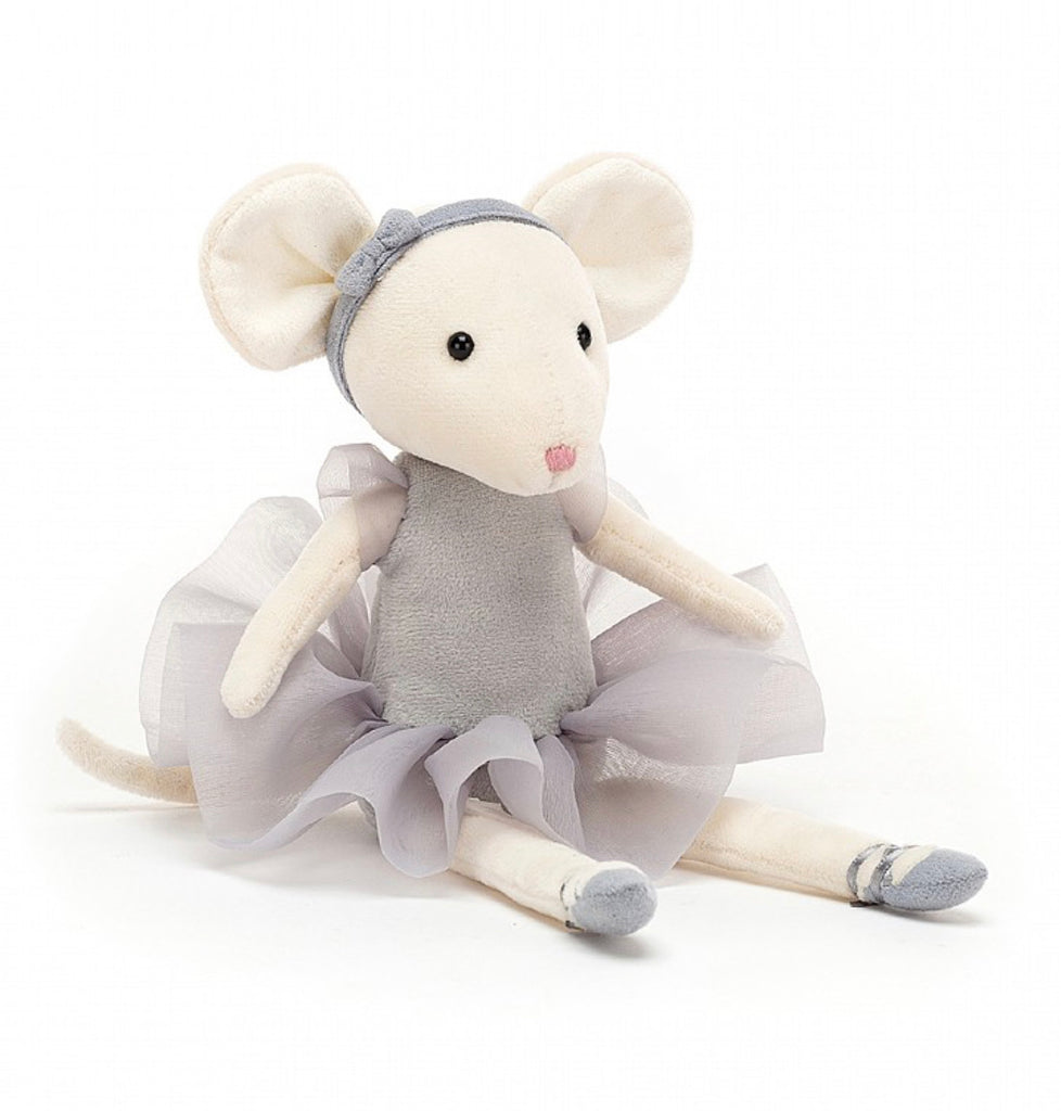 Jellycat Pirouette Mouse- Pebble