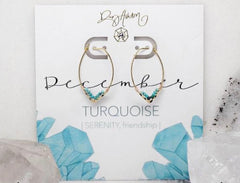 Rory Ashton- Birthstone Drop Earring-December
