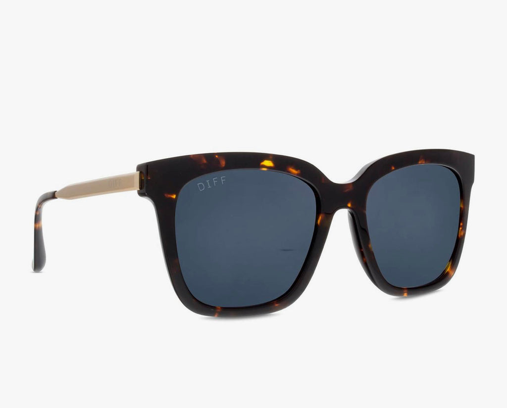 Diff Bella Eyewear Tortoise Grey Gradiant Sunglasses