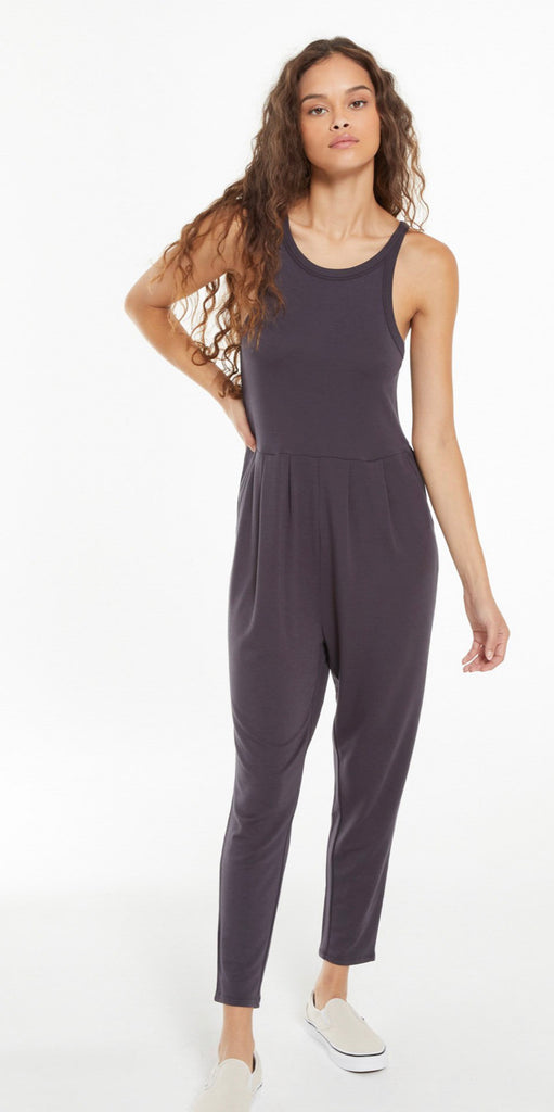 Z Supply Smooth Sailing Jumpsuit- Washed Black