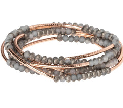 Scout Curated Wrap Pewter/Rose Gold
