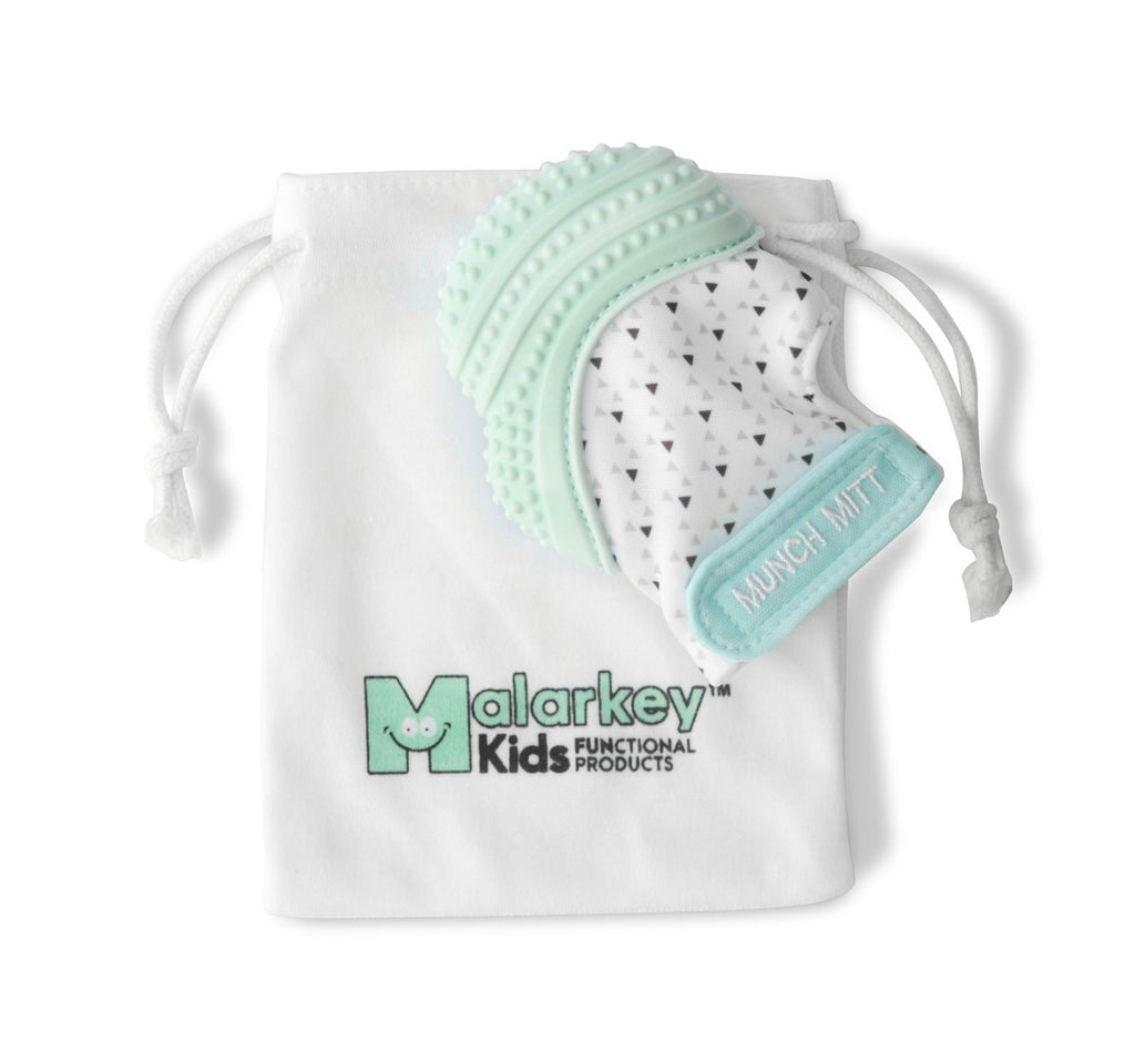 Mint Munch Mitt - Green Triangles