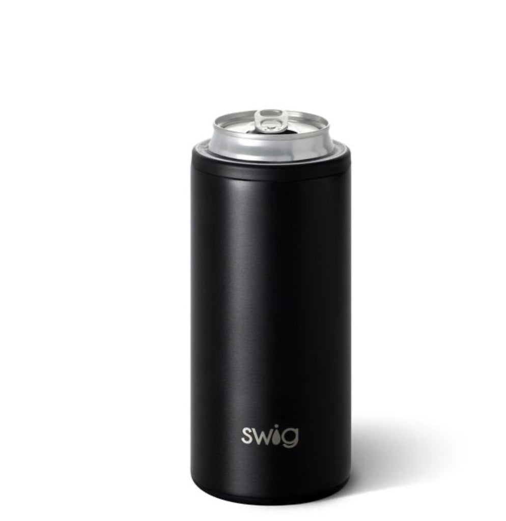 Swig 12oz Skinny Can Cooler-Matte Black