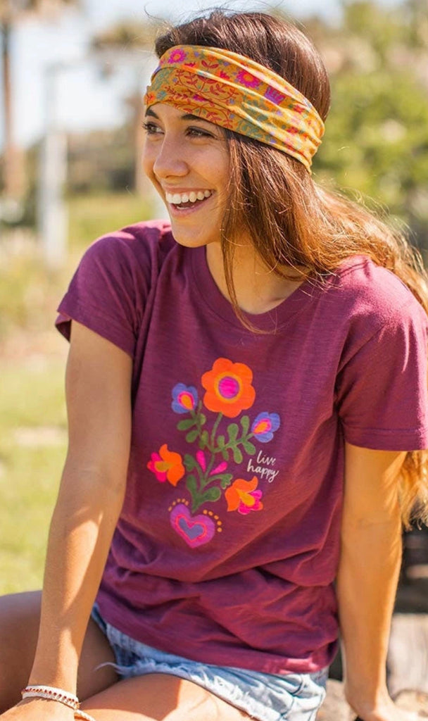Natural Life Perfect Tee Mauve -Live Happy