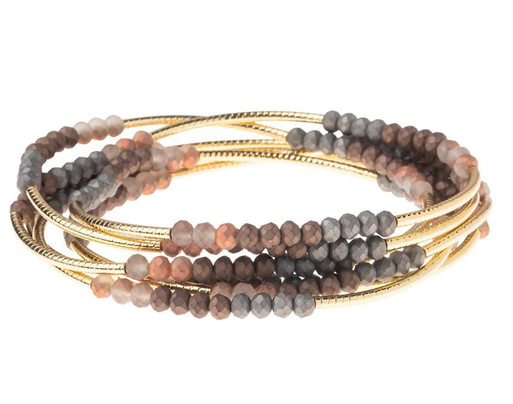 Scout Curated Wrap Matte Metallic Tri-tone/Gold