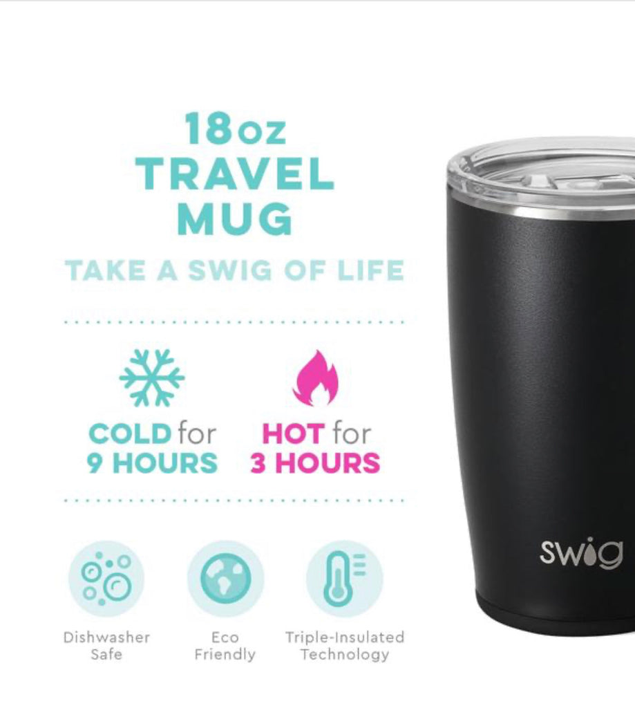 Swig 18oz Travel Mug- Matte Black