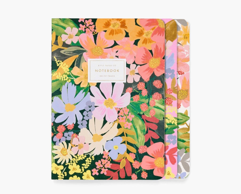 "Rifle Paper Co. ""Marguerite"" Stitched Notebooks (Set of 3)"