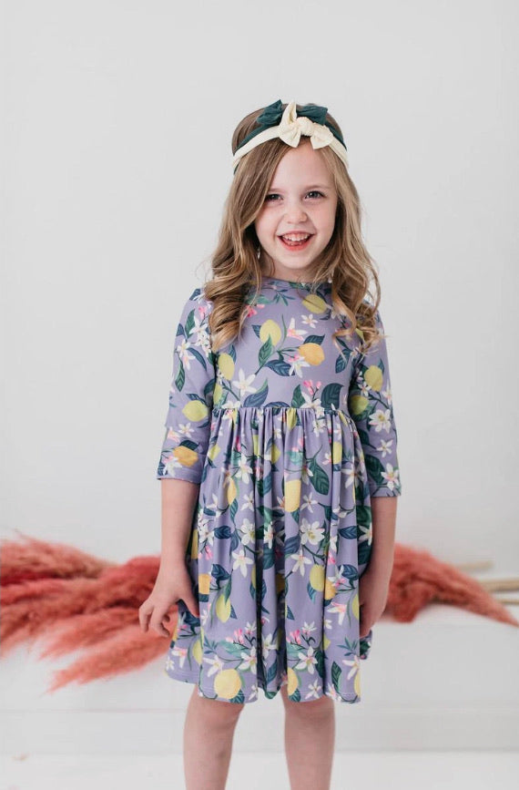 Mila & Rose Lovely Lemons Twirl Dress