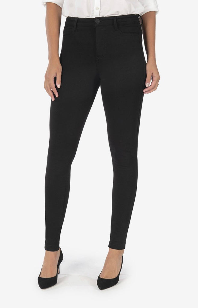 "Kut from the Kloth ""Mia"" High Rise Fab Ab Toothpick Skinny - Black"