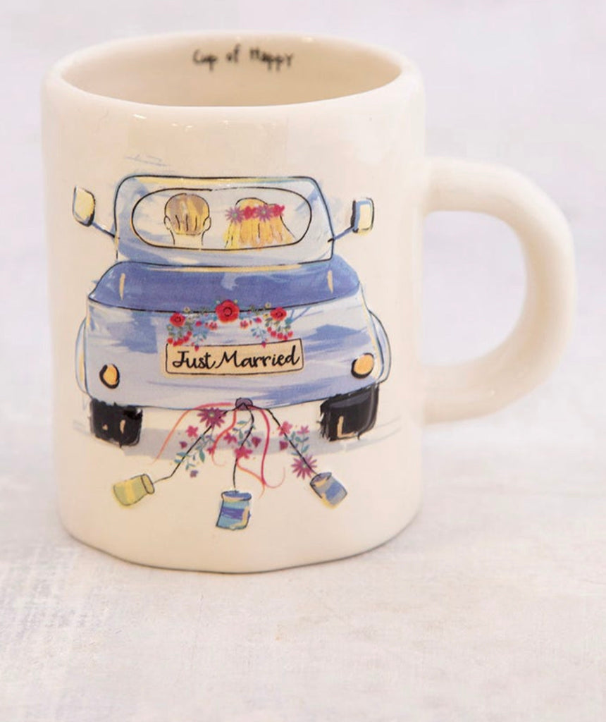 Natural Life Embossed Mug-Just Married