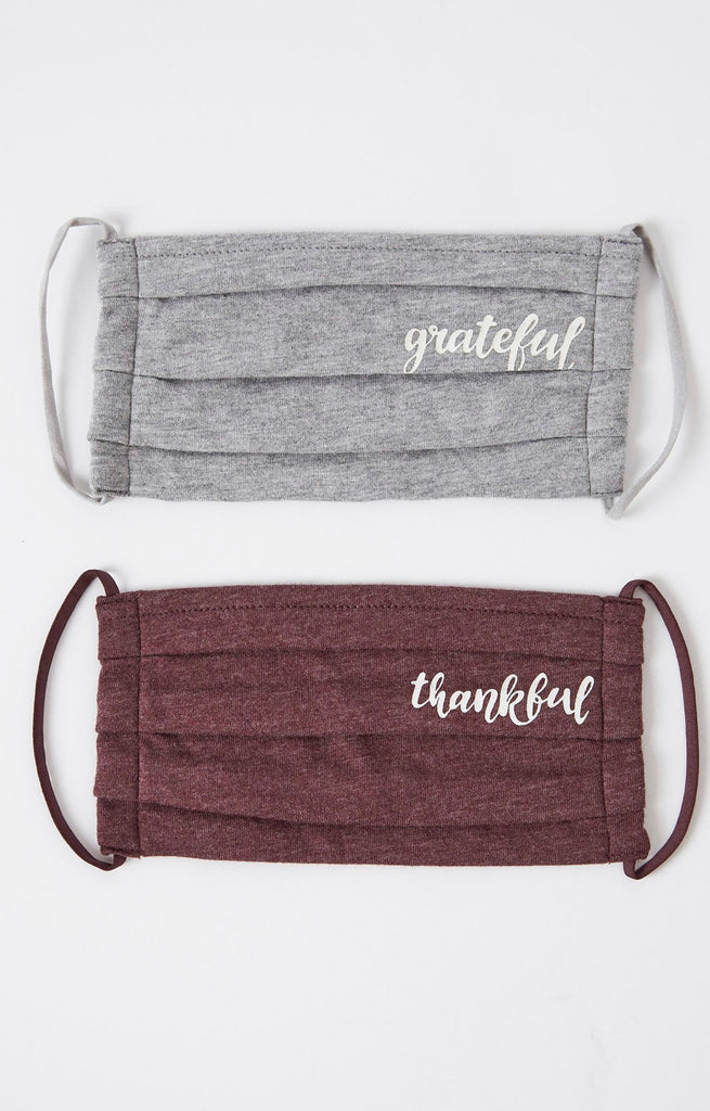 Z Supply Grateful/Thankful 2 pack Face Mask