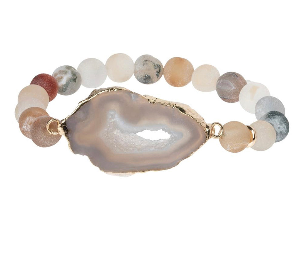 Scout Curated Geode Stack Sand/Smoke/Gold