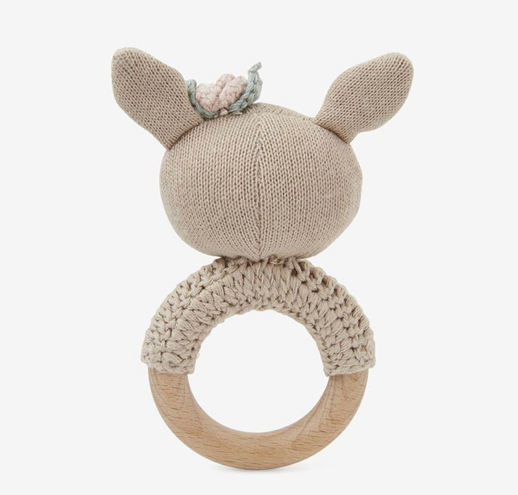 Fifi Fawn Wooden Baby Rattle