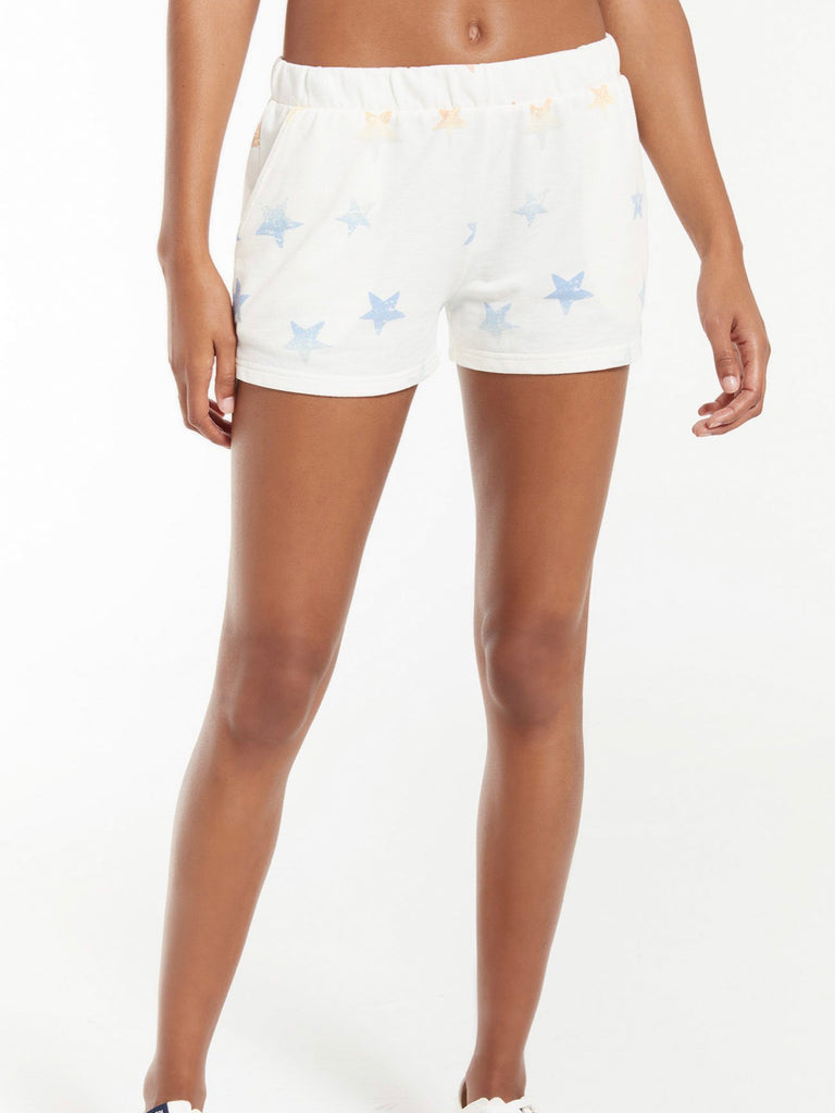 Z Supply Arlie Rainbow Star Short- Sand Dollar