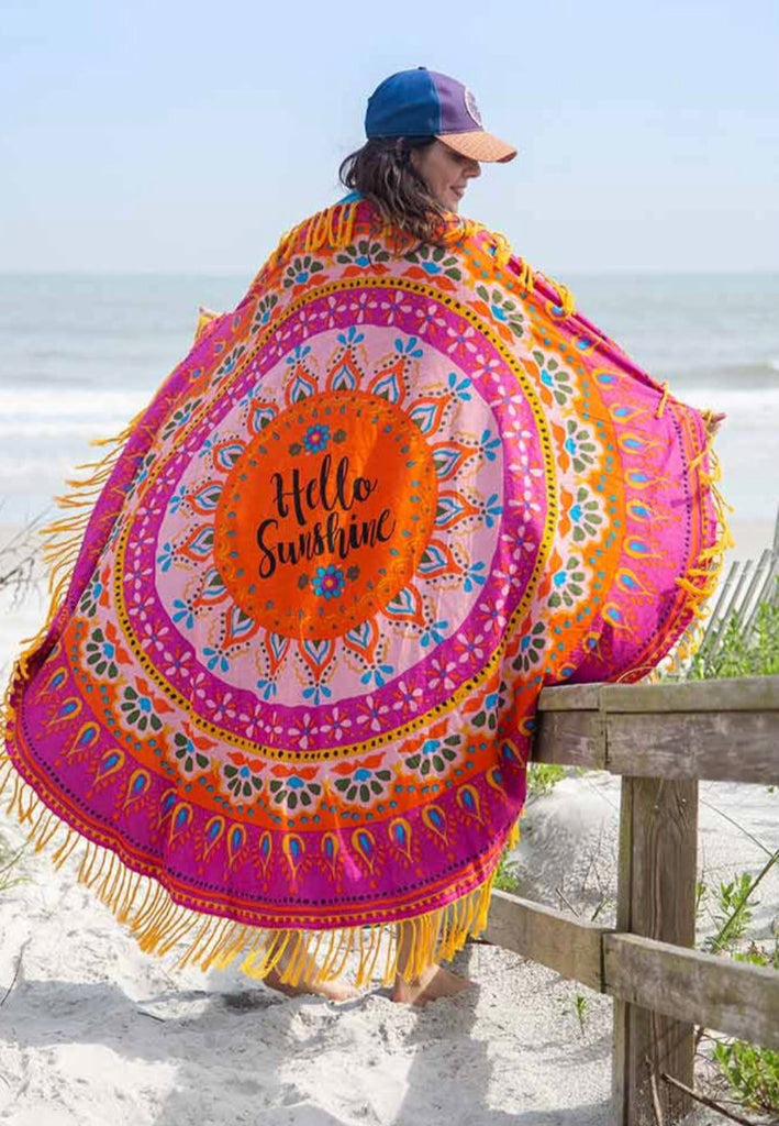 Natural Life Beach Towel - Hello Sunshine