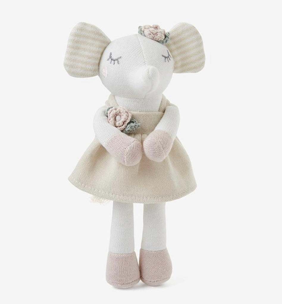 8'' Mini Elelphant Princess Baby Knit Toy