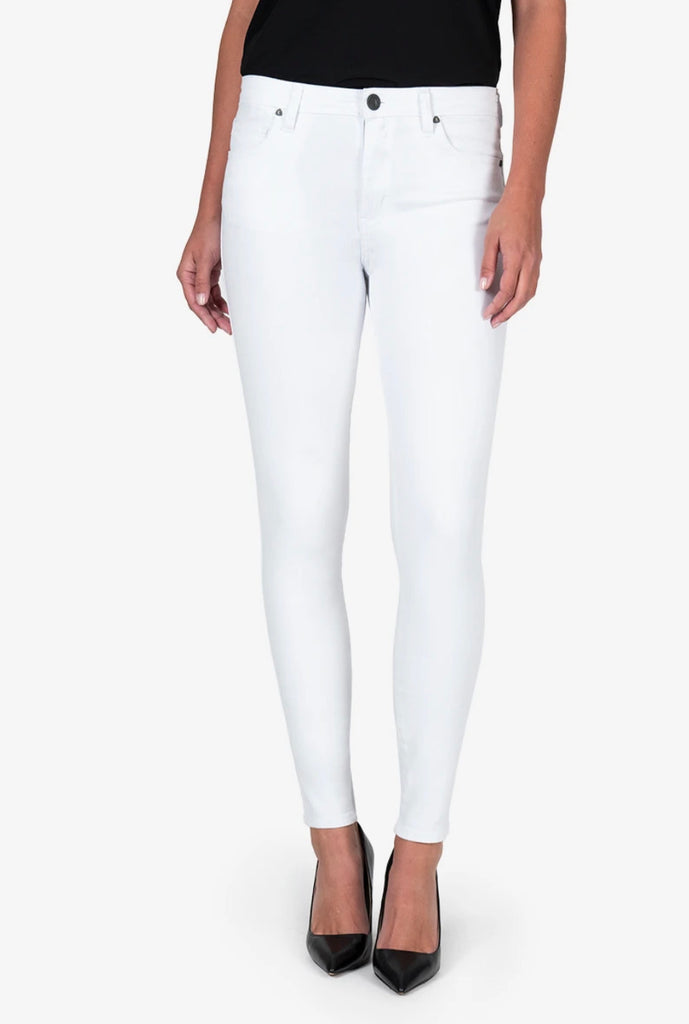 KUT Mia High Rise Skinny - Optic White