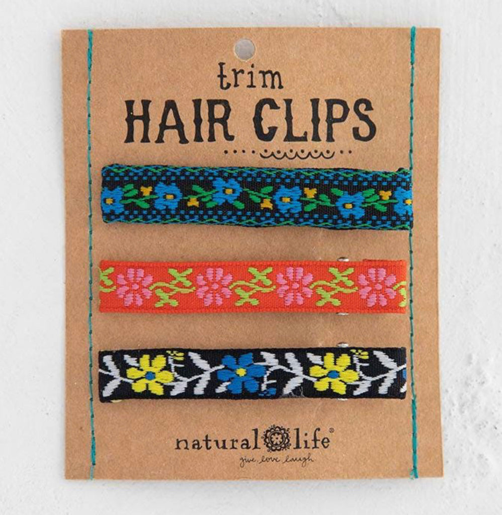 Natural Life Trim Hairclips, Blue