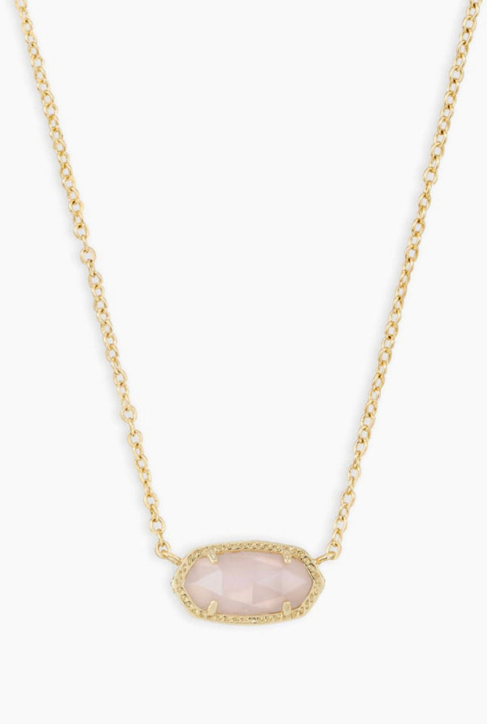 Kendra Scott Elisa Short Necklace in G-Rose Quartz
