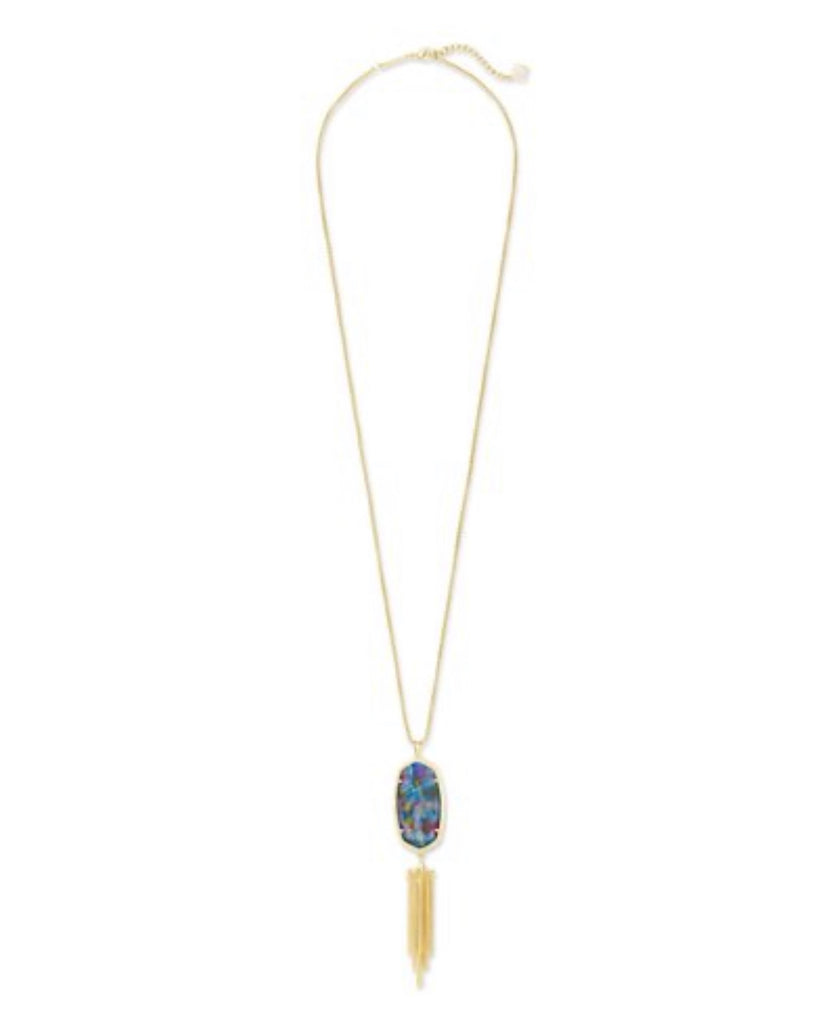 Kendra Scott Rayne Necklace in Teal Tie Dye