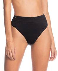 Maaji Black Onyx Suzy Q Reversible High Rise Bikini Bottom