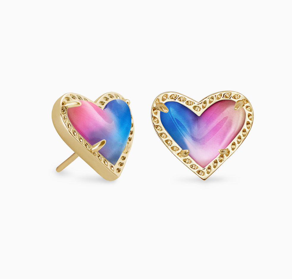 Kendra Scott Ari Heart Studs- Available in 8 colors!