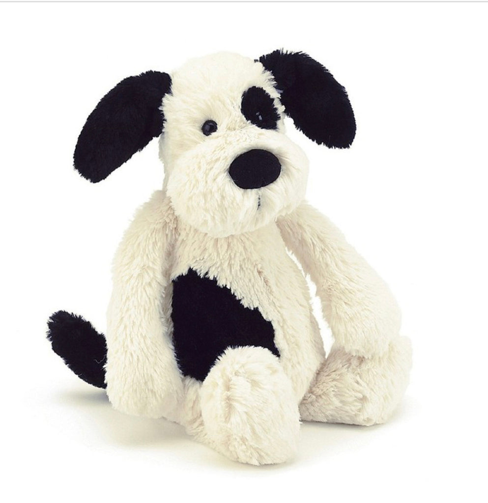 Jellycat Bashful Black & Cream Puppy- Small