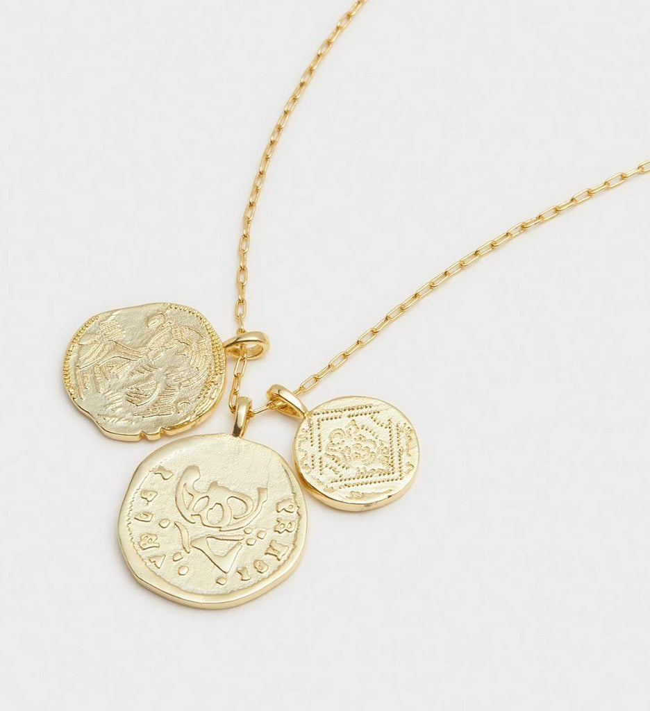 Gorjana Ana Coin Pendant Necklace  Gold