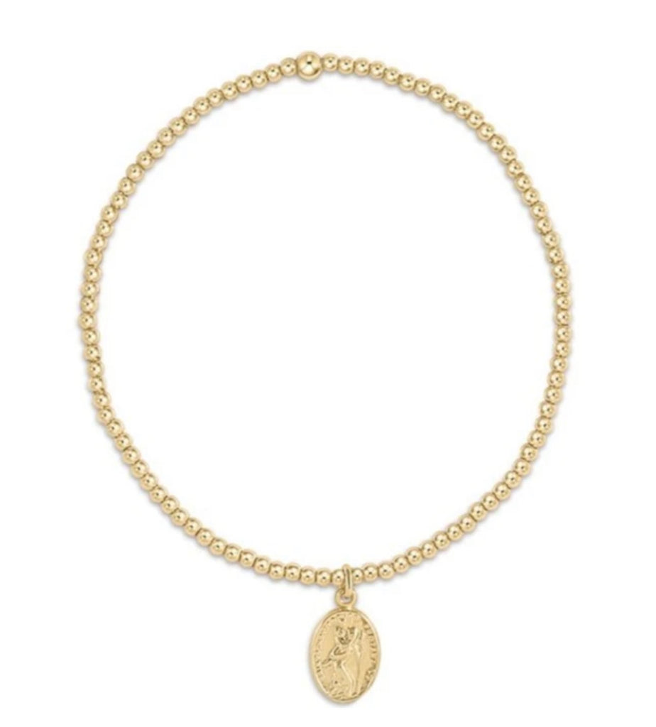 Enewton Classic Gold 2mm Bead Bracelet -Protection Small Gold Charm