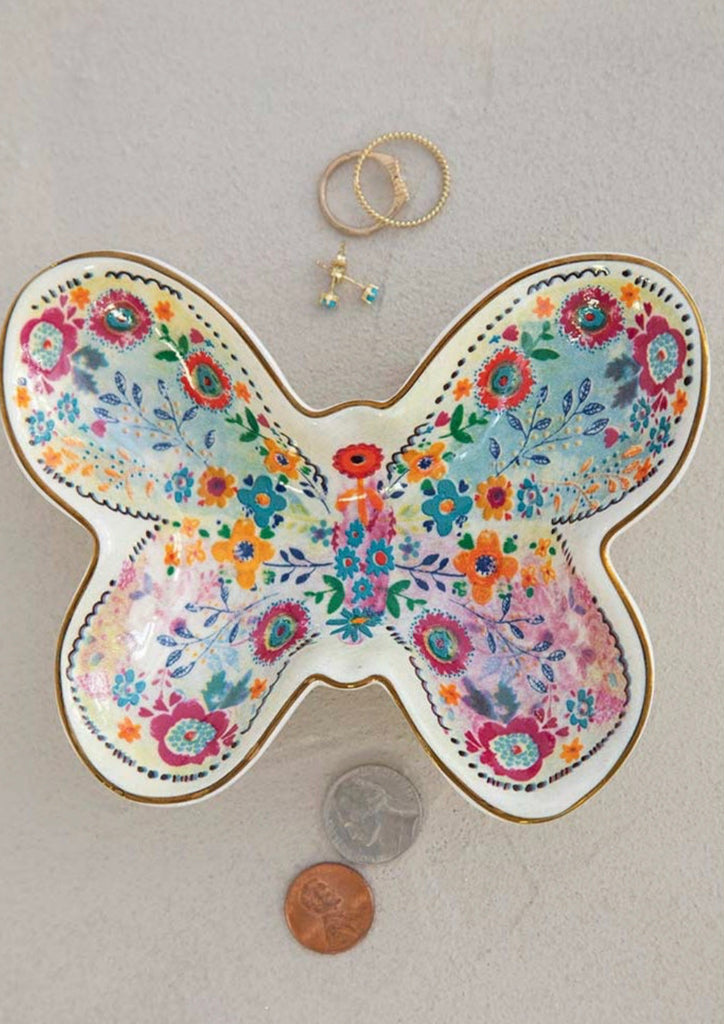 Natural Life Trinket Bowl Butterfly