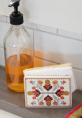 Natural Life Napkin/Sponge Holder Bless This Home