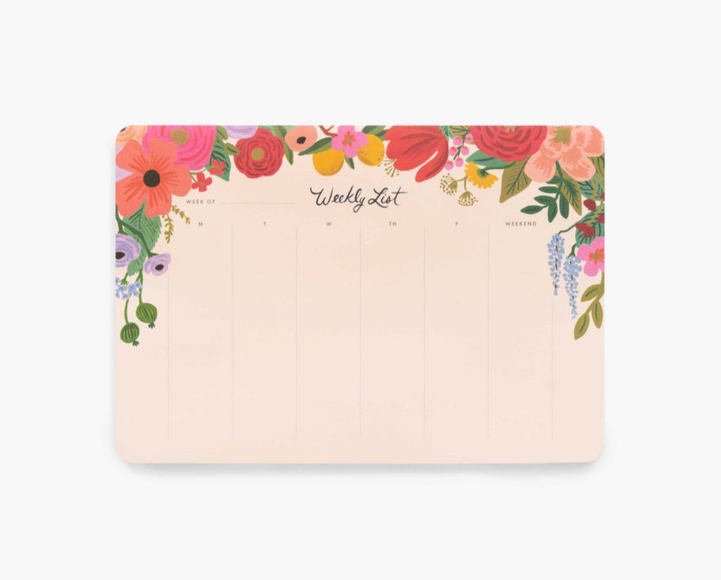 "Rifle Paper Co. ""Garden Party"" Weekly Desk Pad"