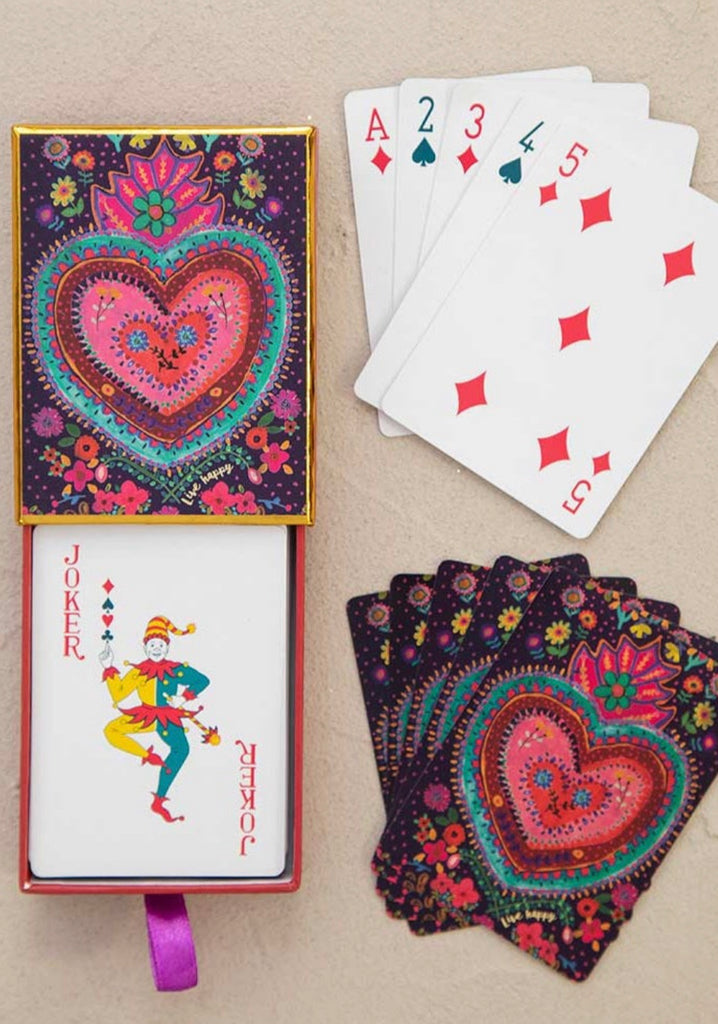 Natural Life Playing Cards Happy Heart