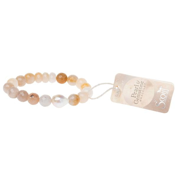 Pearl & Gemstone Bracelet Available in 6 Colors