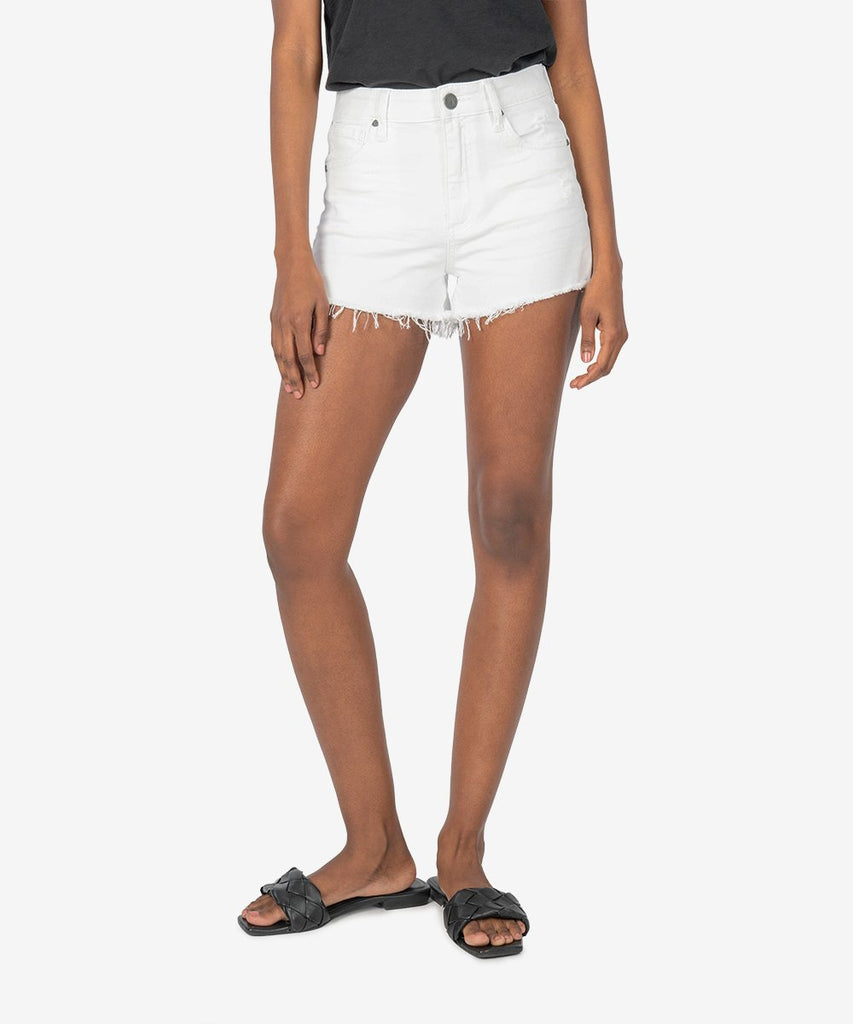"Kut from the Kloth ""Jane"" High Rise Short - Optic White"