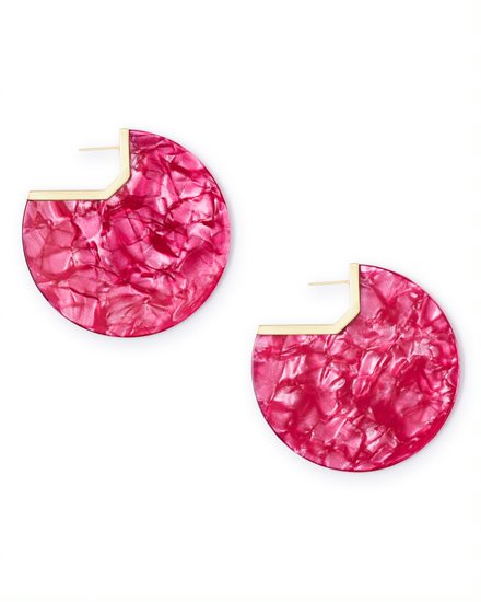 Kendra Scott Kai Earrings in Azalea Acetate in Gold