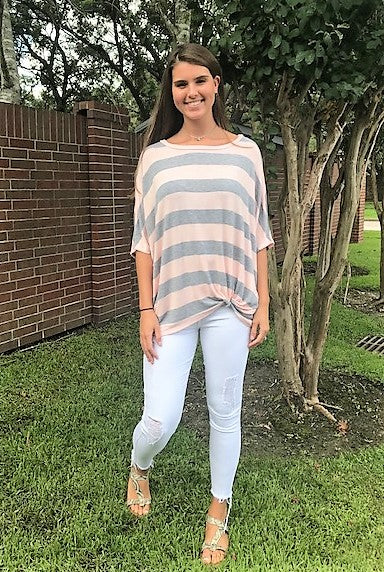 Side Knot Striped Tunic