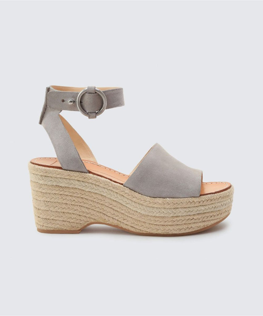 Dolce Vita Lesly Wedge in Grey Suede
