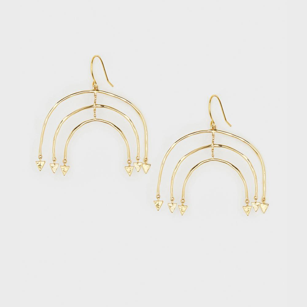 Gorjana Luca Mobile Earrings in Gold