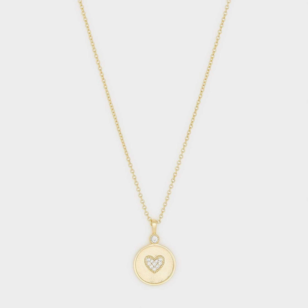 Gorjana Madison Heart Coin Necklace