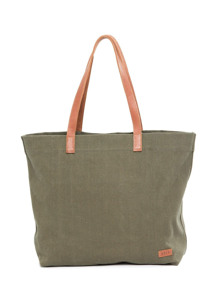 ABLE Mamuye Canvas Tote in Olive