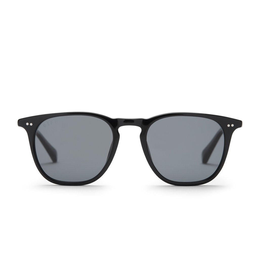 DIFF Eyewear Maxwell, Black Grey Polarized