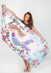 Microfiber Beach Towel - You Are Mermazing