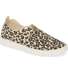 Ilse Jacobsen Tulip Shoe 139 in Milk Creme Leopard