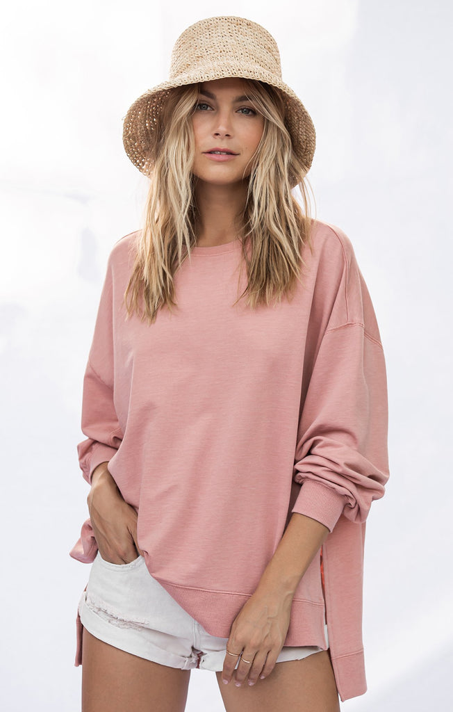 Z Supply Weekender Top in Petal Pink