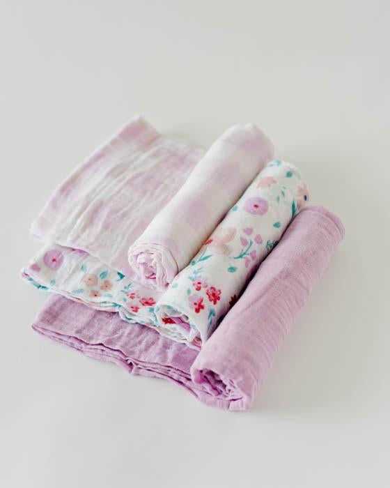 Little Unicorn Muslin Swaddle Set of 3 - Morning Glory